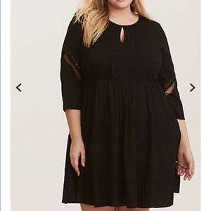 NWT torrid size 1 lace inset skater dress